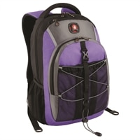 Swiss Gear SOLAR Backpack - Fits Screen Sizes Up to 16-Inch - Purple