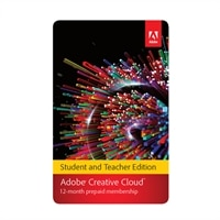 ADOBE SYSTEMS Download - Adobe Creative Cloud Individual Subscription Student Teacher Edition, version CC for Multiple Platforms