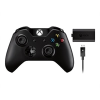 Microsoft Xbox One Wireless Controller with Play and Charge Kit - Game pad - wireless