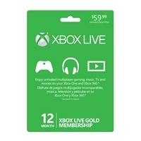 Discount Electronics On Sale MICROSOFT CORPORATION Microsoft Xbox Live Gold Card - 12 months