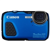 CANON Canon PowerShot D30 Point & Shoot Camera 5x Optical Zoom Waterproof 12.1 Megapixel - blue