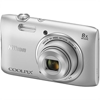 NIKON Nikon Coolpix S3600 Compact - 20.1 MP Digital Camera - Silver