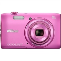 NIKON Nikon Coolpix S3600 Compact - 20.1 MP Digital Camera - Pink