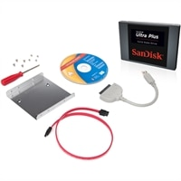 SanDisk 256GB Ultra Plus SSD with Conversion Kit and Data Migration SW