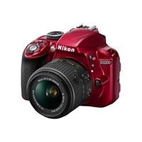 NIKON Nikon D3300 24.2 Megapixel DSLR AF-S VR DX 18-55mm lens - red