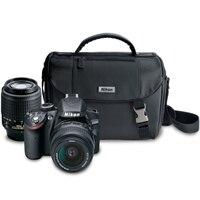 NIKON Nikon D3200 24.2 MP Digital SLR Camera with 18-55 mm Zoom Lens, 55-200mm AF-S DX Zoom Nikkor Lens and DSLR Carrying Case