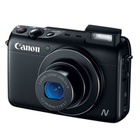 CANON Canon PowerShot N100 5X Optical Zoom 12.1 Megapixel Point and Shoot Camera - Black