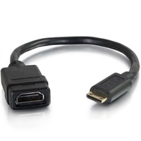 CABLESTOGO C2G HDMI Mini to HDMI Adapter Converter Dongle - video / audio adapter - HDMI - 8 in