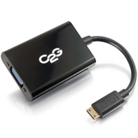 CABLESTOGO C2G HDMI Mini to VGA and Audio Adapter Converter Dongle - Video converter - black