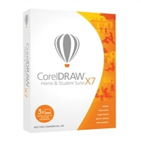 COREL CORPORATION CorelDRAW Home & Student Suite X7 - Box pack - 3 PC in one household - non-commercial - DVD ( mini-box ) - Win - English