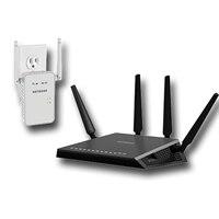 NETGEAR Nighthawk X4 4-Port Wireless Router with NETGEAR AC750 WiFi Range Extender EX6100 Wireless Network Extender