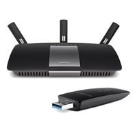 Linksys EA6900 AC1900 Smart Wi-Fi Wireless Router with WUSB6300 Wi-Fi Wireless AC Dual-Band AC1200 USB Adapter