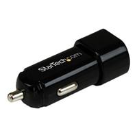 StarTech.com Dual-port USB car charger - 17W/3.4A - black - Power adapter - car - 17-watt - 2 output connector(s)