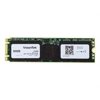VisionTek - Solid state drive - 500 GB - internal - M.2 2280 - SATA 6Gb/s - 128-bit AES, 256-bit AES