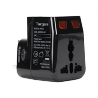 Targus World Travel Power Adapter with Dual USB Charging Ports - power adapter