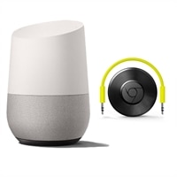 Google Home - Smart speaker - wireless - Wi-Fi - with Chromecast audio - white (grille color - slate fabric)