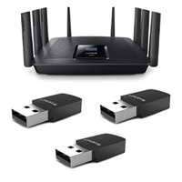 Linksys EA9500 Max-Stream™ AC5400 MU-MIMO Gigabit Wi-Fi Router - WUSB6100M AC600 Wi-Fi Micro USB Adapter
