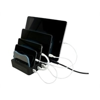 VisionTek 4 Device Charging Station - Phone / tablet charging station - 4 output connectors (USB)