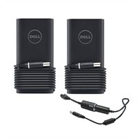 Dell Two 90 W Slim Adapters with Car Charger