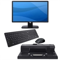 Dell E Series E2313H 23-inch Widescreen Monitor and E-Port Replicator with KM632 Wireless Keyboard and Mouse Combo