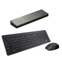 Dell KM632 Wireless Keyboard and Mouse with Targus Universal USB 2.0 Video Docking Station Bundle