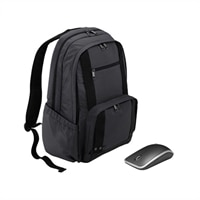Dell Half Day Backpack Carrying Case - Fits Laptop with Screen Sizes Up to 15.6-inch and WM514 Wireless Laser Mouse