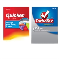 DL -Quicken Dlx. 2013 & DL -TurboTax Dlx NS TY2012 Val Pk