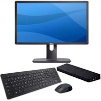 Dell UltraSharp U2212HM 21.5-inch Widescreen Monitor with USB 3.0 SuperSpeed Dual Video Docking Station and KM632 Wireless Keyboard and Mouse Combo with 3-Year Advanced Exchange Service