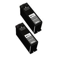 Dell 2 x Single Use High Capacity Black Cartridge (Series 22) for Dell V313/ V313w All-In-One Printer
