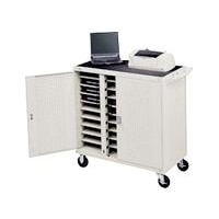 LAP30EULBA-GM 30-Unit Laptop Storage Cart with 5-inch Casters