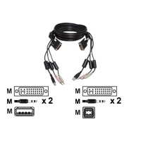 12FT USB KEYBOARD MOUSE 1 DVI CABLE SET FOR SC4UAD 1 USB 2 AUDIO