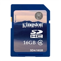 16 GB SDHC Class 4 Flash Memory Card