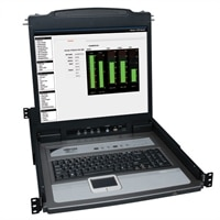 16-Port NetDirector™ Rack Console USB/PS2 KVM with 19 in LCD-Comes with x8 P778-006 USB/PS2 Combo KVM Cable Kits