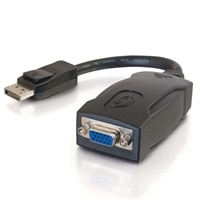 C2G 54129 8-inch Display Port 1.1 Male - HD15 VGA Active Adapter Cable Female- Black