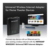 Netgear Universal Wireless-N Internet Adapter for Home Theater Devices (WNCE2001)