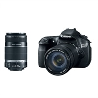 EOS 60D 18 MP Digital SLR Camera (with EF-S 18-135 mm IS Lens) Kit and EF-S 55-250mm IS Lens Bundle