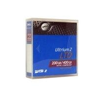 Cartucho de datos de 200 GB/400 GB LTO Ultrium 2 para los sistemas PowerEdge 830/PowerVault 110T LTO-2-L de Dell - 1 paquete