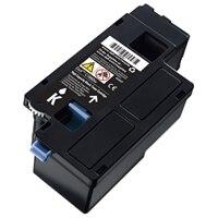 Cartucho de tóner negro para la impresión de hasta 1,250 páginas para la impresora láser color C1660w de Dell