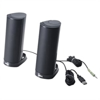 Altavoces: USB negro externo Dell AX210CR (Kit)