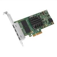 Dell Cuatro puertos 1 Gigabit Tarjeta de interfaz de red Intel Ethernet I350 PCIe de adaptador para servidores bajo perfil, Cuskit