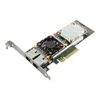 Dell QLogic 57810 Dual puertos 10 Gb Base-T Tarjeta de interfaz de red Ethernet PCIe de adaptador para servidores