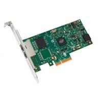 Dell Dual puertos 1 Gigabit Tarjeta de interfaz de red Intel Ethernet I350 PCIe de adaptador para servidores altura completa, Cuskit