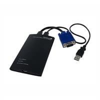 StarTech.com KVM Console to USB 2.0 Portable Laptop Crash Cart Adapter - Conmutador KVM - PS/2, USB - 1 x KVM port(s) - 1 usuario local - sobremesa