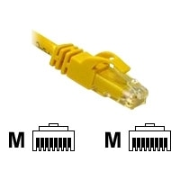 C2G Cat6 550MHz Snagless Patch Cable - Cable de interconexión - RJ-45 (M) - RJ-45 (M) - 3 m - CAT 6 - moldeado, trenzado, sin enganche, forrado - amarillo