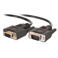 C2G - Cable alargador de puerto serie - DB-9 (H) - DB-9 (M) - 15 m (49.21 ft) - moldeado, tornillos de mariposa - negro