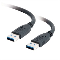 C2G - Cable USB - USB tipo A de 9 patillas (M) - USB tipo A de 9 patillas (M) - 2 m (6.56 ft) ( USB / Hi-Speed USB / USB 3.0 ) - negro