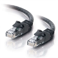 C2G Cat6 550MHz Snagless Patch Cable - Cable de interconexión - RJ-45 (M) - RJ-45 (M) - 1.5 m (5 ft) - CAT 6 - moldeado, trenzado, sin enganche - negro
