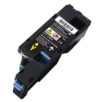 Cartucho de tóner amarillo para la impresión de hasta 1000páginas para la impresora láser color C1660w de Dell