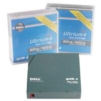 Medios de cinta de 800 GB/1,6 TB para unidad de cinta LTO-4 120