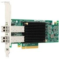 HBA de canal de fibra de bajo perfil Emulex LPe32002-M2-D de doble puerto y 32 GB de Dell.